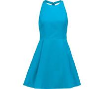 Christie cutout cotton-poplin mini dress