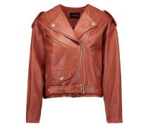 Audric Leather Jacket Ziegelrot