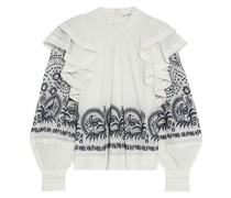 Annetta Ruffled Broderie Anglaise Cotton Blouse