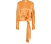 Bluse aus Seiden-charmeuse mit Bindedetail Vorne