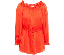 Camila Off-the-shoulder Ruffle-trimmed Crepon Top