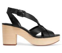 Jessica Leather Sandals Schwarz