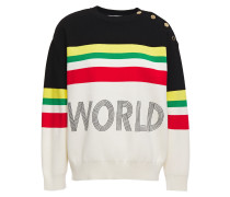 Ursulla Embroidered Striped Knitted Sweater