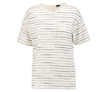 Printed Cotton T-shirt Creme