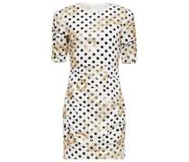 Razula Minikleid aus Georgette mit Polka-dots und Pailletten