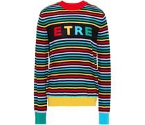 Pullover aus Wolle mit Intarsienmuster und Streifen