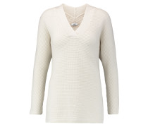 Ribbed Wool And Cashmere-blend Sweater Creme