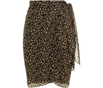 Fallon Floral-print Fil Coupé Silk-blend Georgette Wrap Skirt