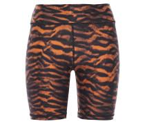 Tiger-print Stretch Shorts