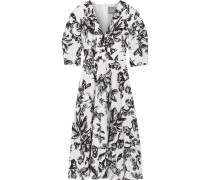 Floral-print Cotton Dress Weiß