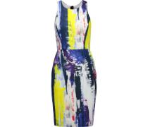 Graffiti Printed Stretch-jersey Mini Dress Mehrfarbig