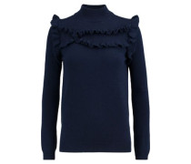 Ithaca ruffle-trimmed wool and cashmere-blend turtleneck sweater