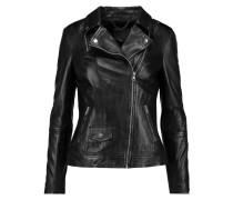 Sadeo Leather Biker Jacket Schwarz