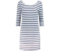 Sunfaded Striped Cotton-blend Jersey Mini Dress Weiß