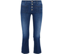 Mid-rise cropped bootcut jeans