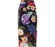 Floral-print Silk-blend Georgette Pencil Skirt
