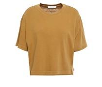 Cropped T-shirt aus Biobaumwoll-jersey