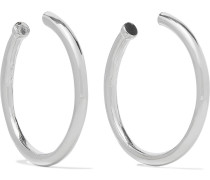 Rhodium-plated Hoop Earrings