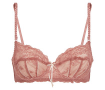 Sofia Satin-trimmed Lace Underwired Bra