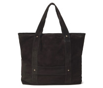 Studded Suede Tote