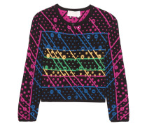 Galaxy Cutout Jacquard-knit Cardigan Mehrfarbig