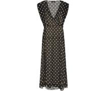 Polka-dot Silk-chiffon Midi Dress