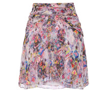 Orchus Layered Printed Silk-georgette Mini Skirt