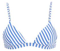 Danni Metallic Striped Triangle Bikini Top