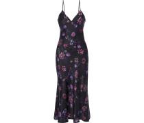 The Colleen Floral-print Silk-charmeuse Midi Slip Dress