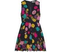 Becca Minikleid aus Schnurgebundener Spitze mit Floralen Applikationen und Stickereien