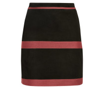 Zephyr Embroidered Suede Mini Skirt Schwarz