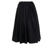 Pleated Checked Taffeta Midi Skirt