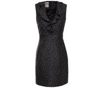 Abee Ruffled Polka-dot Satin-jacquard Mini Dress