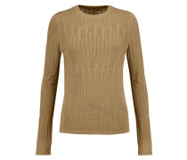 Textured-knit Cotton Sweater Champignon