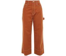 The Carpenter Kara Cropped High-rise Wide-leg Jeans