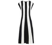 Striped Silk And Cotton-blend Midi Dress