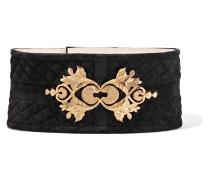 Embellished Suede Waist Belt Schwarz