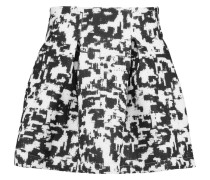 Printed Neoprene Mini Skirt Schwarz