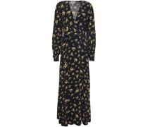 Printed Crepe Midi Wrap Dress