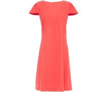Pintucked Wool-crepe Dress