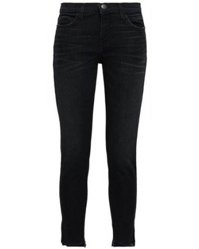 Faded Mid-rise Skinny Jeans Black  3