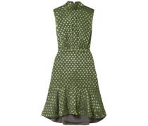 Fleur Ruffled Fil Coupé Silk-blend Dress