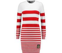 Striped Jersey Mini Dress Rot