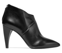 Dree Shark Tooth Leather Ankle Boots Schwarz