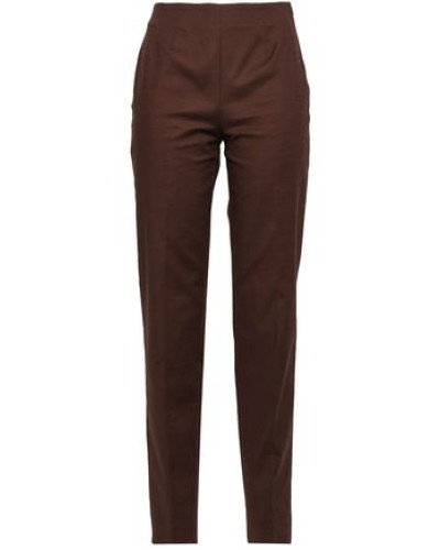 Cotton-blend Tapered Pants Chocolate