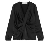 Muriel Twist-front Satin Blouse