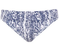 Ruched Stretch-piqué Mid-rise Bikini Briefs