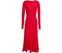Fluted Stretch-jersey Midi Dress