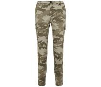 Camouflage-print Cotton-blend Slim-leg Pants