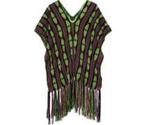 Livia fringed woven poncho